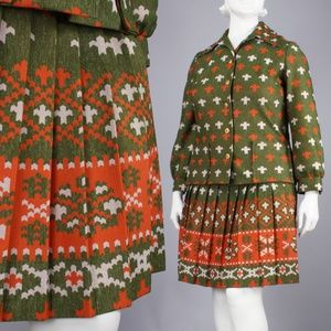 Sportswear Limited by College Girl Inc. Dresses - XXL Vintage 60s Plus Size Mini Skirt & Shirt Set